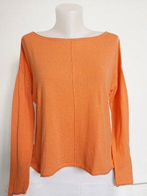H&M Long Sweater orange-neon orange