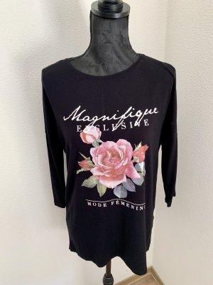 Oversize Print Rose Shirt
