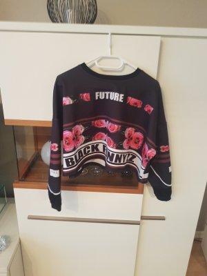 T-shirt court noir-rose