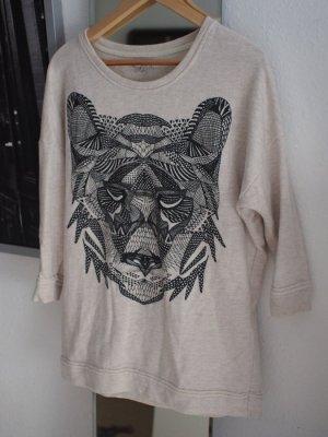 Oversize Pulli mit Tigerprint Zara