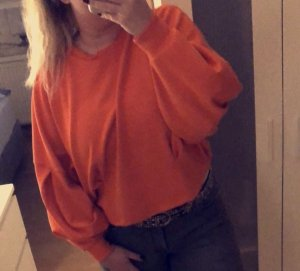 H&M Oversized Sweater neon orange-orange