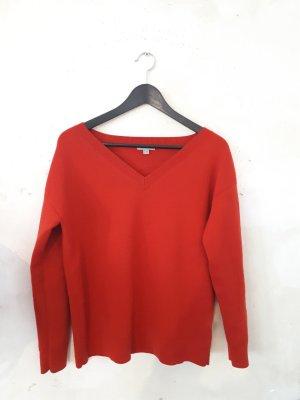 COS Jersey de lana rojo-rojo ladrillo