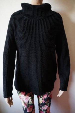 Oversized trui zwart Synthetische vezel