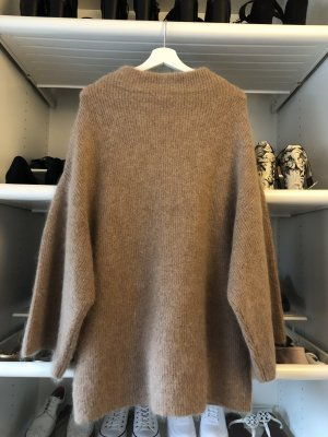 H&M Pull long gris brun-marron clair
