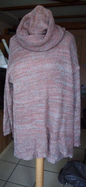 Oversize-Pullover altrosa