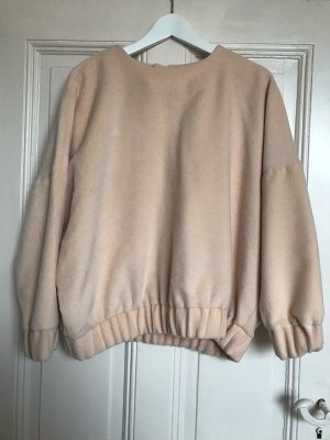 Oversize Pullover aus Teddyfell in Creme/Nude // H&M Trend