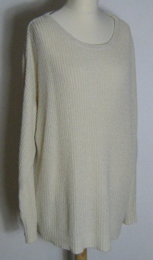 3 Suisses Maglione oversize bianco sporco