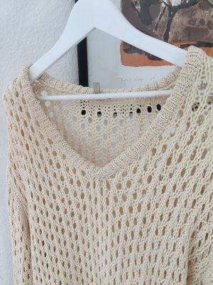 Oversize Pullover - grob gestrickt.