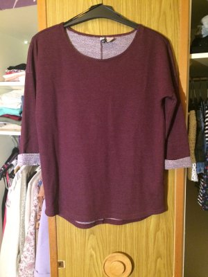 Oversize Pullover in Bordeaux
