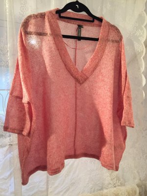 Oversize Pullover in rosa