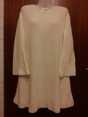 Boohoo Sweater Dress natural white polyacrylic