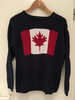 Oversize-Pullover mit Kanada-Flagge von Claudia Obert in Größe S