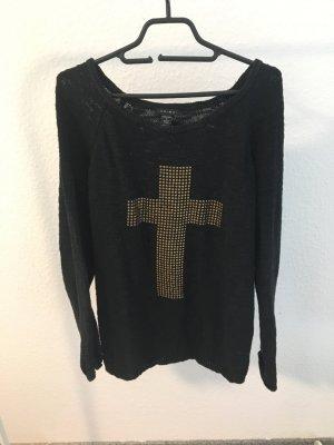 Oversize Pullover mit Kreuz