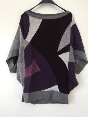 Oversize Pullover mit kurzen Ärmeln
