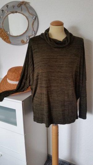 Oversize Pullover mit Rollkragen oliv Gr. 44