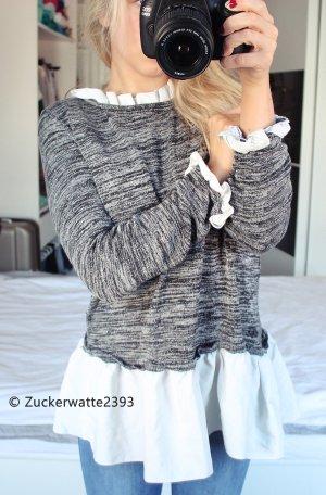 Oversize Pullover mit Rüschen One Size