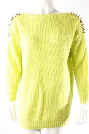 Oversize-Pullover neongrün
