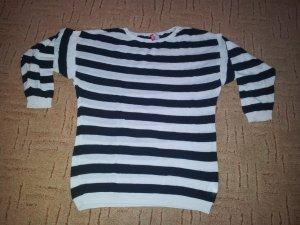 Oversize Pullover schwar Weiß Streifen Gr. M H&M