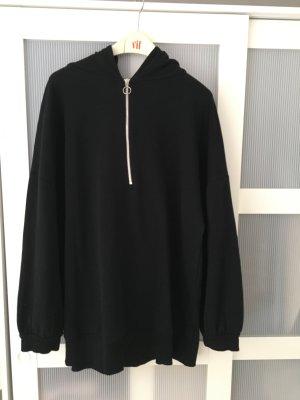 Zara Sweat à capuche noir-argenté