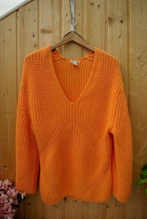 Oversize Pullover Strickpullover sweater orange pastel H&M Studio collection