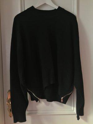 Zara Knit Oversized trui zwart Viscose