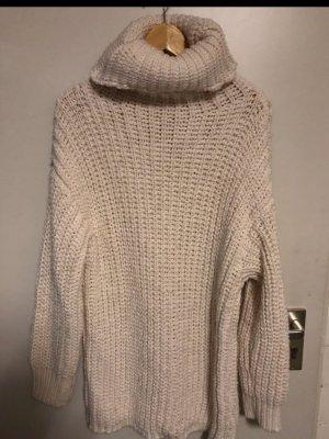 Zara Knit Abito maglione bianco-crema