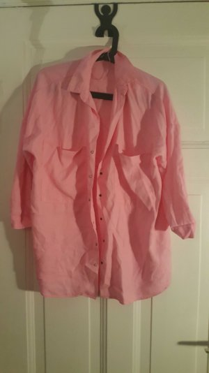 oversize rosa hemd boyfriendlook