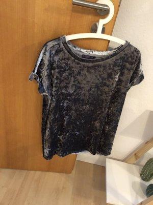 Mango Oversized shirt grijs-donkergrijs