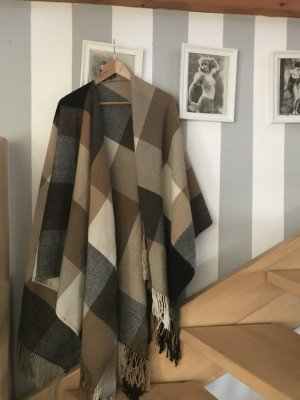 Oversize Schal, Poncho wollmischung