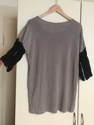 Vero Moda Oversized Shirt grey-black