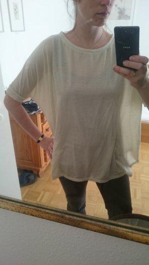 oversize Shirt beige gold Glitzer S