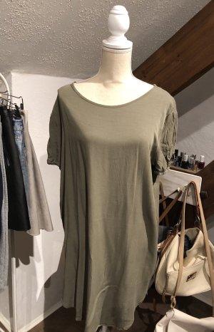 Camicia oversize grigio-verde