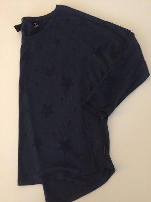 Oversize Shirt Fledermaus Ärmel mit Sternen blau Maison scotch 36-38