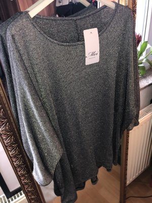 Oversized Shirt silver-colored-dark grey