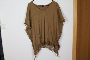 Oversize Shirt in braun