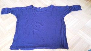 Oversize shirt in dunkelblau
