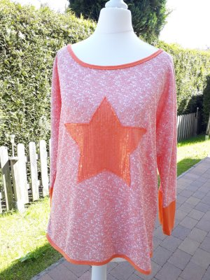 Top extra-large blanc-orange