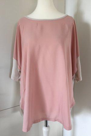 Oversized shirt wit-rosé