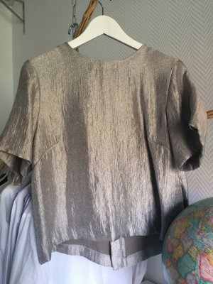 Oversize Shirt in Silber