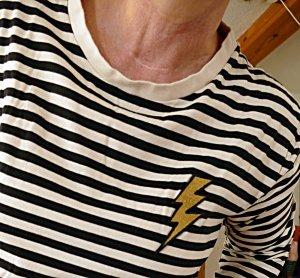 H&M Gestreept shirt zwart-room