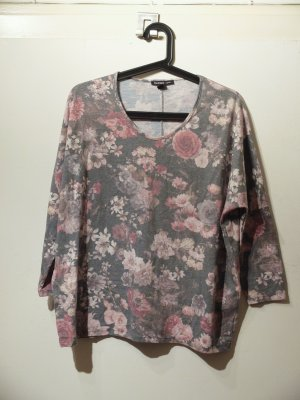 Oversize-Shirt mit floralem Muster