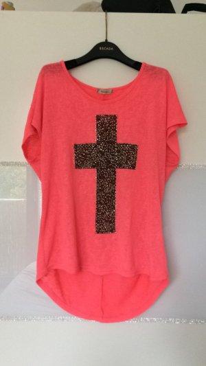 Oversize Shirt mit Kreuz