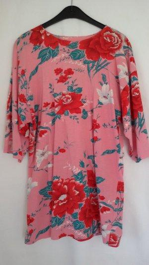Camiseta estampada rosa-rojo Algodón