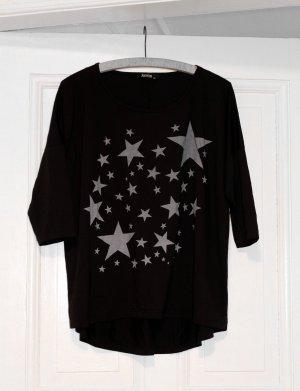 Janina Oversized shirt zwart-lichtgrijs