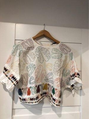 Zara Basic Oversized Shirt multicolored