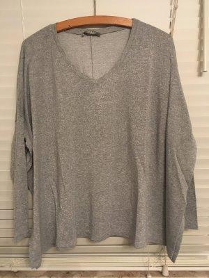 Oversize Shirt Silber Gr. 36/38