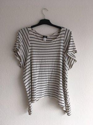 H&M Oversized Shirt white-black