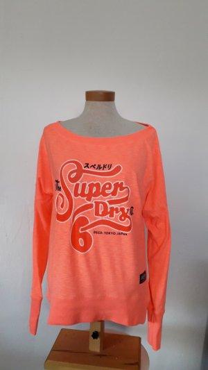 Superdry Top extra-large orange clair tissu mixte