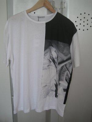 Oversize Shirt von Zara mit Blumen Print