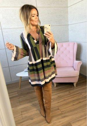 Oversize Stiefelkleid Strickpullover Tunika Coachella Hippie Festival Kleid Retro Blogger Pullover passt bei S-L